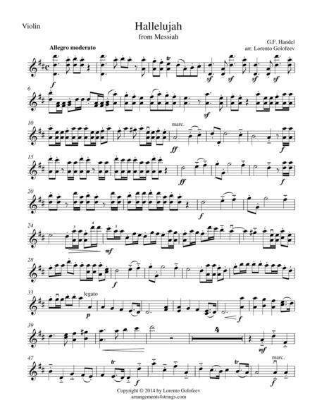 Hallelujah from Messiah - String Trio
