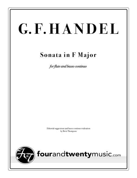 Sonata in F Major for Flute/ recorder and continuo/ piano, opus 1 no 11/HWV 369