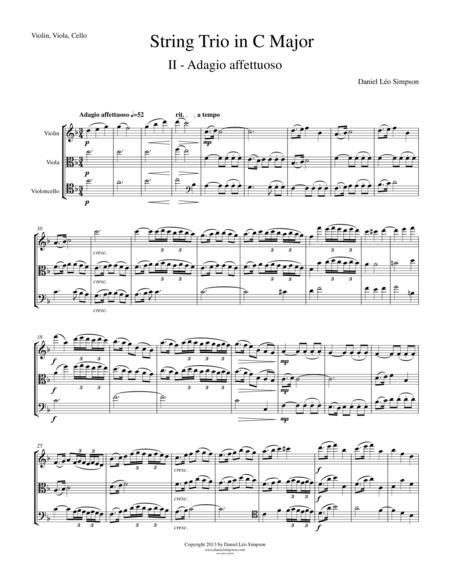 String Trio in C Major (Violin, Viola, Cello) 2nd Mvt.