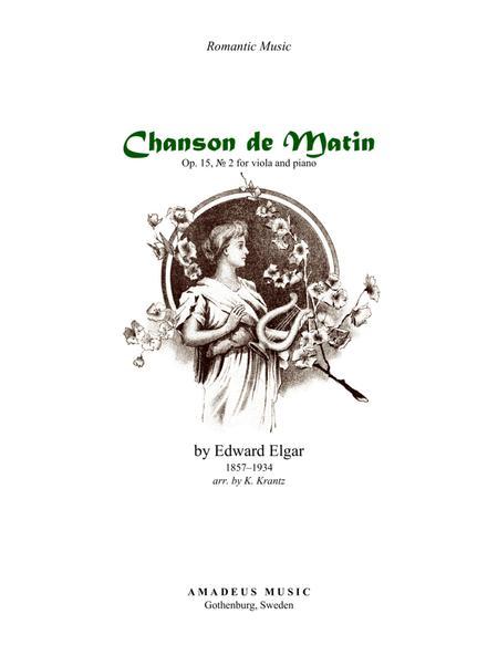 Chanson de Matin for viola and piano