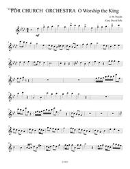 For Church Orchestra O Worship the King Violin II