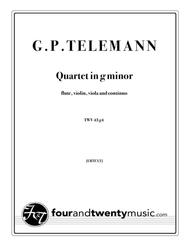 Quartet in g minor for flute, violin, viola and continuo, TWV 43 g4 [Urtext]