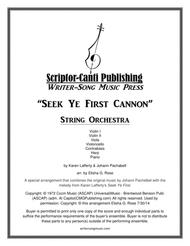 Seek Ye First Cannon - String Orchestra