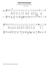 Rest sweet nymphs (C minor version) for alto (or baritone) and guitar