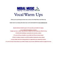 Vocal Warm Ups for the Female Voice