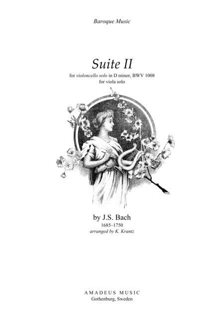 Suite No. 2, BWV 1008 for viola solo