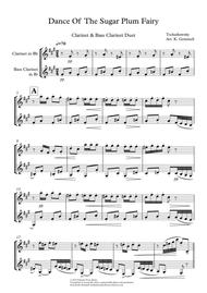 Dance Of  The Sugar Plum Fairy: Clarinet & Bass Clarinet Duet
