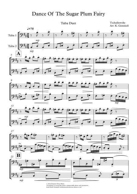 Dance Of  The Sugar Plum Fairy: Tuba Duet