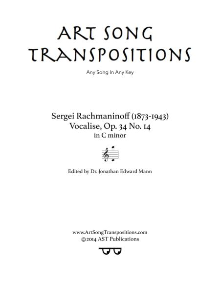 Vocalise, Op. 34 no. 14 (C minor)