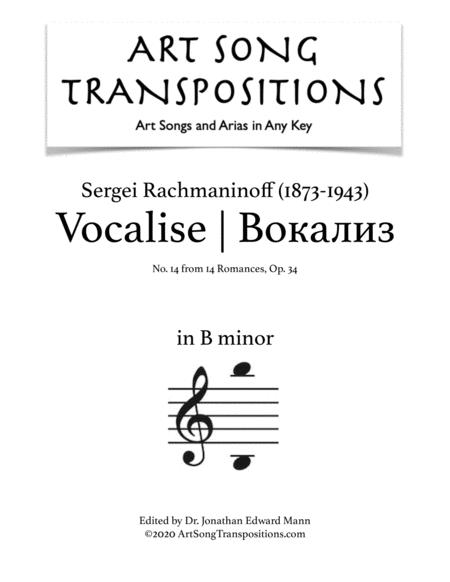 Vocalise, Op. 34 no. 14 (B minor)