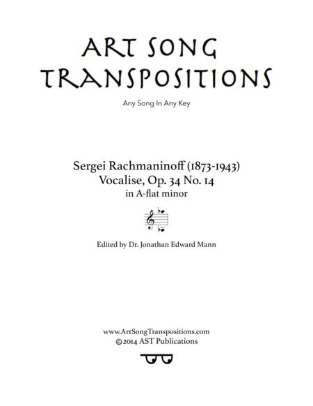 Vocalise, Op. 34 no. 14 (A-flat minor)