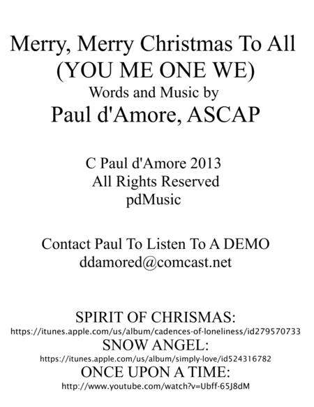 Merry, Merry Christmas To ALL (YOU ME ONE WE)