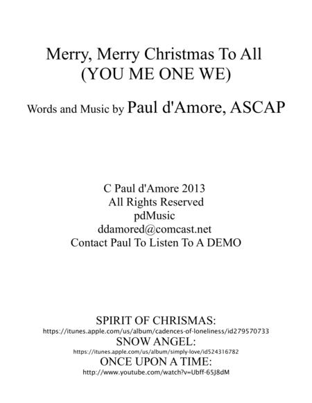 Merry, Merry Christmas To All(YOU ME ONE WE)