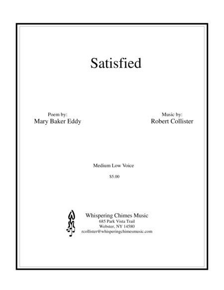Satisfied medium low voice
