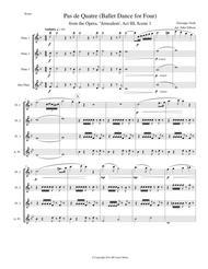 Verdi - Ballet Music set for flute quartet (from Jerusalem Act III)