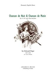 Chanson de Nuit and Chanson de Matin Op. 15 for flute and piano