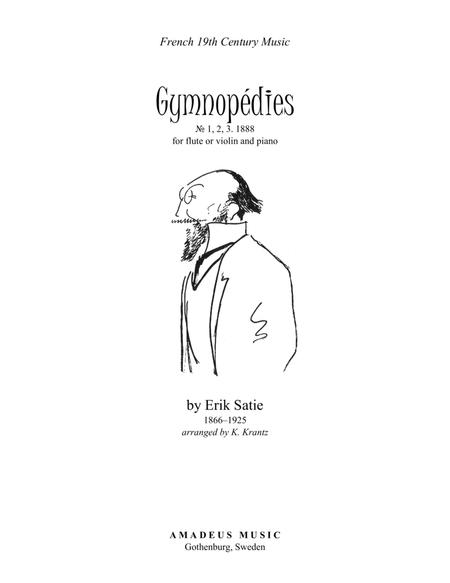 Gymnopedie (1,2,3) for flute or violin and easy piano