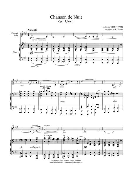 Chanson de Nuit and Chanson de Matin Op. 15 for clarinet in Bb and piano