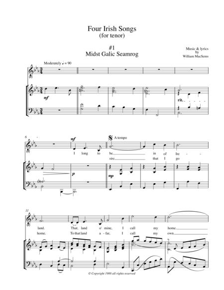 Four Irish Songs (for tenor)