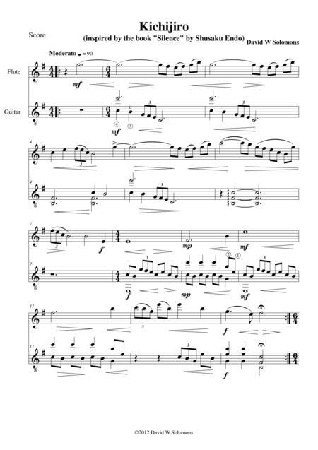 Kichijiro for flute and guitar