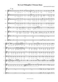 My Lord Willoughby's Welcome home (SATB-SATB version)