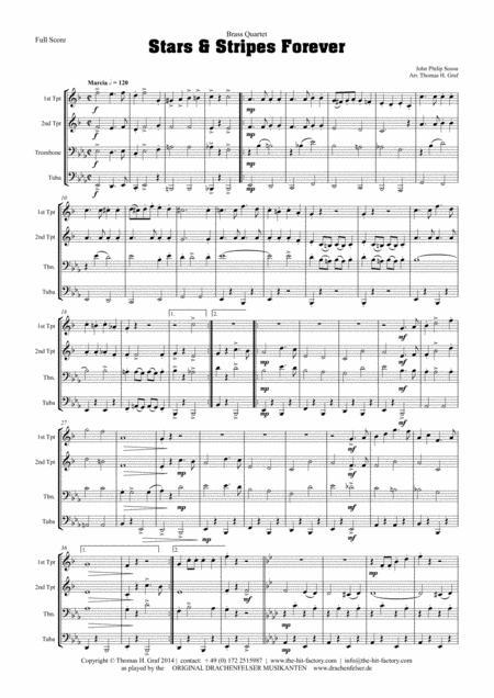 Stars and Stripes forever - Sousa - Brass Quartet
