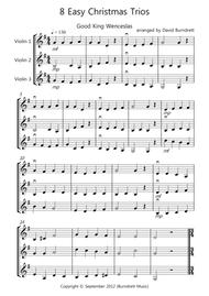 8 Easy Christmas Trios for Violin