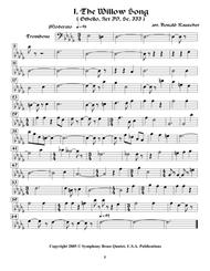 Shakespearean Music for Brass Quintet - 1. The Willow Song - Othello (Trombone)