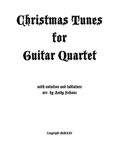 Christmas Tunes for Guitar Quartet