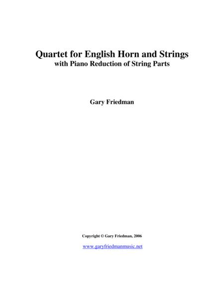 Quartet for English Horn and Strings