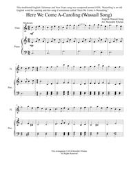 Christmas Duets for Flute & Piano:  Here We Come A-Caroling (Wassail Song)