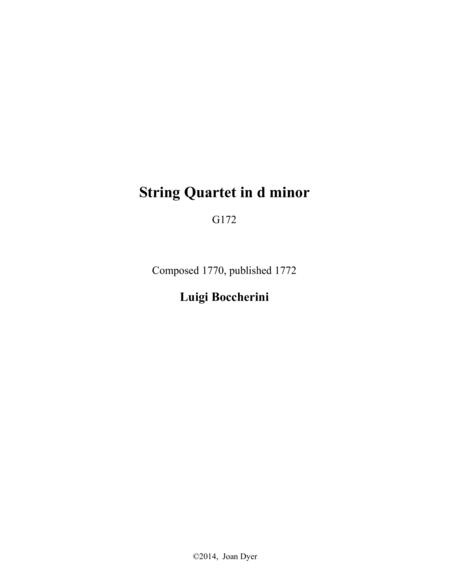 String Quartet in d minor, G.172
