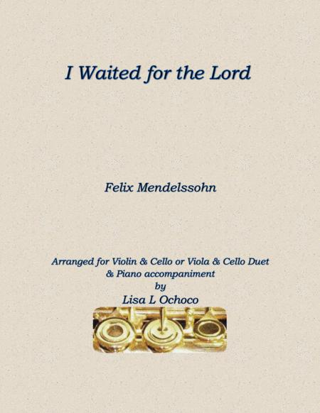 I Waited for the Lord for Violin, Cello, and Piano