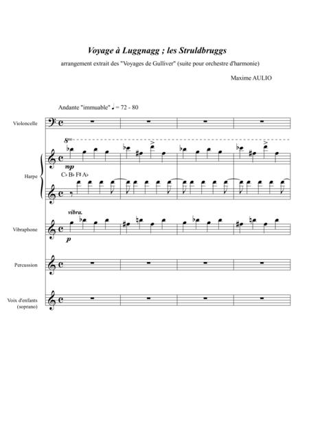 Voyage to Luggnagg (from Gulliver's Travels), for young musicians - score and parts