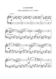 Serenade by Franz Schubert for easy piano