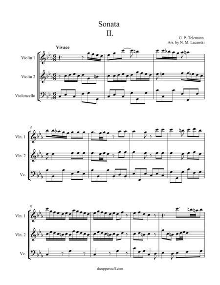 Sonata in C Minor Movement II