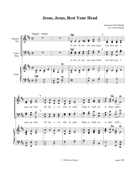 Jesus, Jesus, Rest Your Head (SATB)