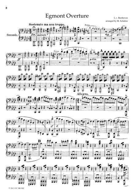Beethoven Egmont Overture, for piano duet, PB801