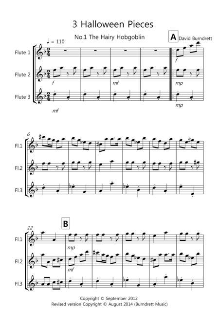 3 Halloween Pieces for Flute Trio