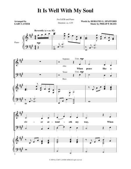 It Is Well With My Soul (Choir and Pn with Choir Part)