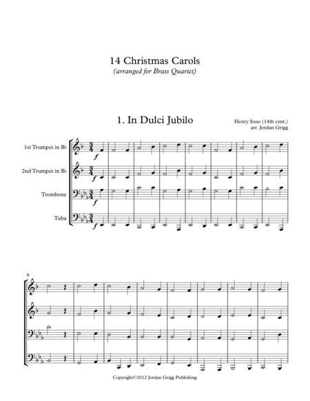 14 Christmas Carols (arranged for Brass Quartet)