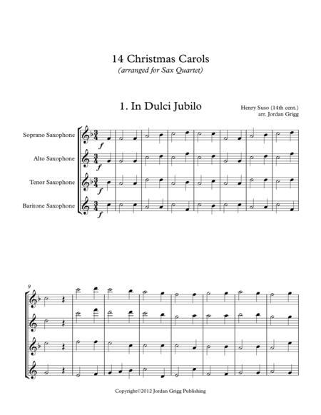 14 Christmas Carols (arranged for Sax Quartet SATB)