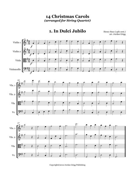 14 Christmas Carols (arranged for String Quartet)