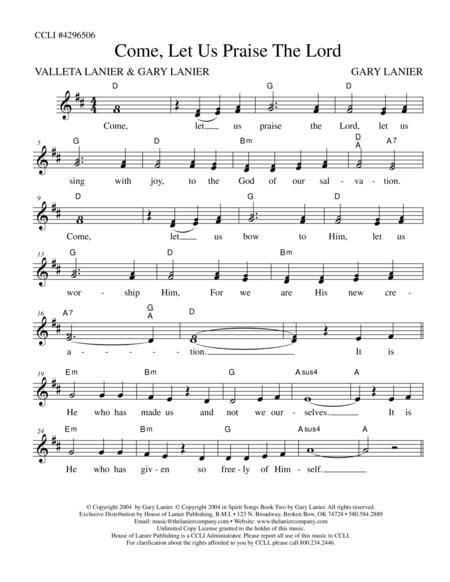 Download COME LET US PRAISE THE LORD (Lead Sheet With Mel