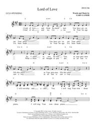 LORD OF LOVE (Lead Sheet with mel, lyrics and chords)