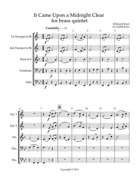 It Came Upon A Midnight Clear - for brass quintet