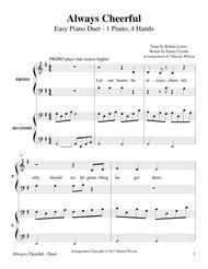 Always Cheerful (Easy Piano Duet - 1 Piano, 4 Hands)