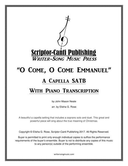 O Come, O Come Emmanuel - Acapella SATB Choir