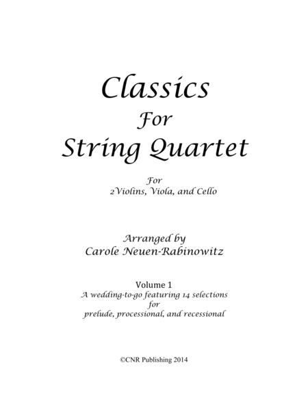Classics for String Quartet Vol 1