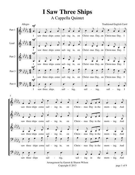 I Saw Three Ships (a cappella quintet)
